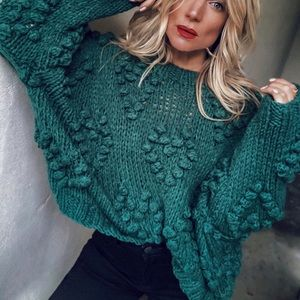 VICI Follow Your Heart Knit Sweater - Green